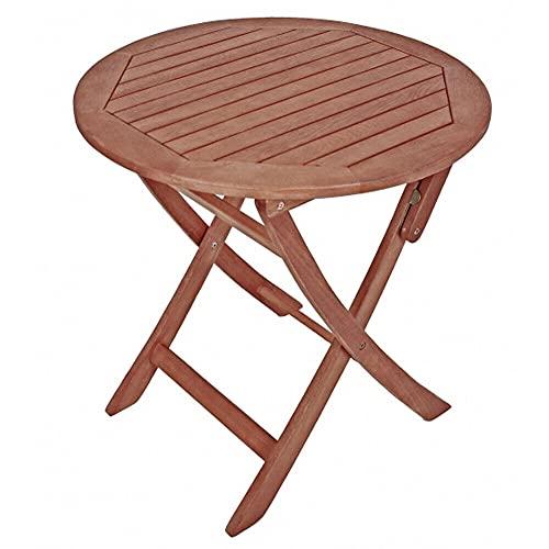 BJYX Beistelltisch klappbar rund Ø70 Klapptisch Holz Eukalyptus Gartentisch Holztisch