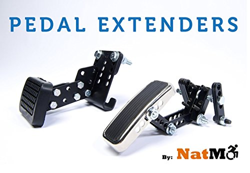 Auto Pedal Extenders for Car Gas and Brake Pedal by National Mobility Products
