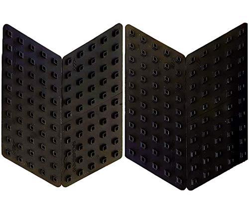 Oferta de 4R Quattroerre.it 18115 Protectores laterales Antideslizantes para Motos Race Grip Evo, Negro, 4 Piezas, 15,5 x 6 cm