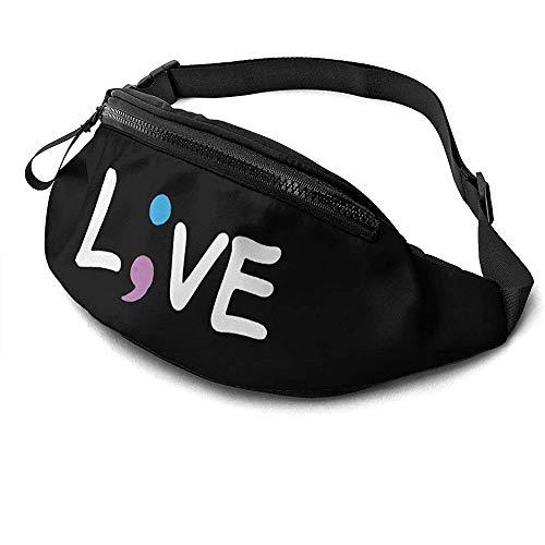 Jrey.T Live Runner's Fanny Bag Waist Pack Réglable Sangles Poche avec Prise Casque pour Unisexe