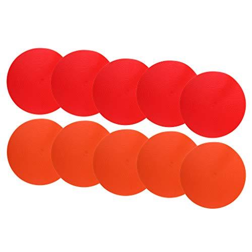 F Fityle 10 Pedazos Entrenamiento de Agilidad de Círculos en Salón de Clases de Multicolor y Visibilidad Óptima de Naranja y Rojo