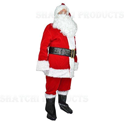 GoodsOnline24/7 Costume da Babbo Natale di Lusso, 8 Pezzi, Taglia XL