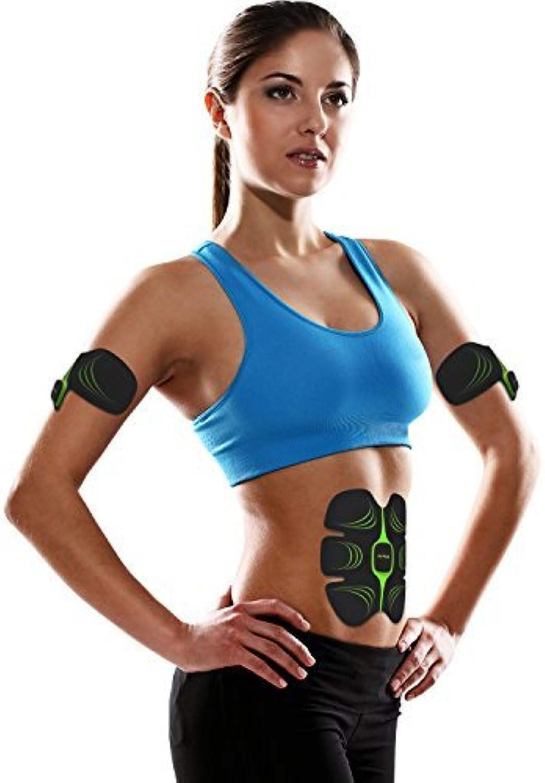 Fitness-Gert AB Bauchtrainer Fitnessgürtel Elektroschock Trainingsgerte Bauch Abdominal Schlank Toning Belt für Mnner und Frauen