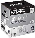 Faac Delta 3 Kit automatique pour portails coulissants motoréducteur 741 ER Z16 Poids max 900 kg Moteur 230 V Carte électronique incluse 105630445 + 1 paire de photocellules XP 20D 785102