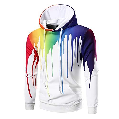 Z&Y Glaa Grafik Hoodie, Hoodie 3D Kapuzenpulli Herren Damen Lustige Gedruckte Graphic Pullover Hoodies Sweatshirts Drawstring Taschen mit Samt Plus Futter Sweatjacke Sweatshirt