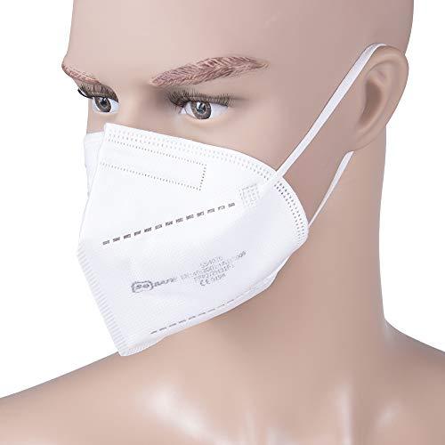 Atemschutzmaske FFP2 Mundschutz Maske perfekt für Mund- und Nasenschutz Schutzmaske 4-lagig CE Zertifiziert (1x 10 Stück) - 2