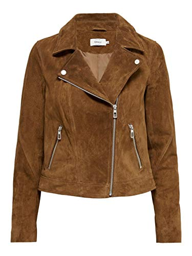 ONLY Female Jacke Biker Suede 38Argan Oil