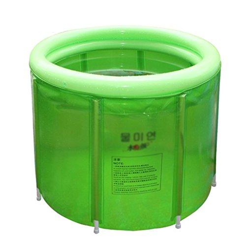 ZHOU LI Baignoire pliante gonflable, double grand bain baignoire portable isolation plus épais SPA maison enfants anti-glissante piscine, bain pliable air douche siège bassin bains
