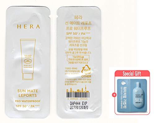 [HERA] 40 X Hera Sun Mate Leports SPF50+/PA++++ (Pro Waterproof) Sunscreen Sample 1ml X 40 Sachets