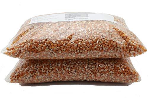 5 kg Popcorn-Mais mit Geschmack ohne Gentechnik - Premium Mais speziell für Airpop Heißluftautomaten - Zubereitung ohne Fett und Zucker (süss-karamell)