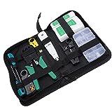 Kit de Herramientas de Mantenimiento de la reparación del probador de Cable de Red RJ45 RJ11 Tester de Cable LAN Stripper Delincuente