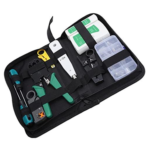 YepYes Netzwerkkabel-Tester-Reparatur-Wartungswerkzeug-Kit RJ45 RJ11 LAN-Kabel-Tester-Crimper-Stripper