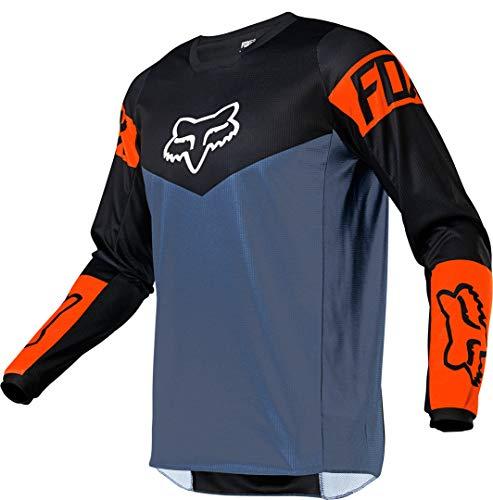 Fox Racing Kids' 180 Motocross Jersey, Blue Steel, Youth Large