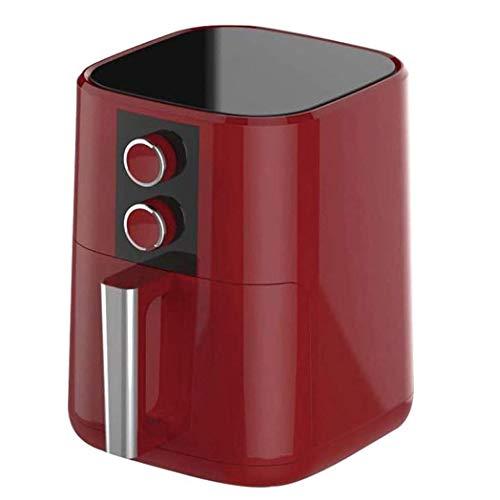 Friteuse Air, Airfryer pour la maison Utilisation 5L Healthy Smart Home, minuterie et contrôle de la température réglable pour la cuisson en bonne santé ou à faible graisse, 1350 W, rouge, E045NT
