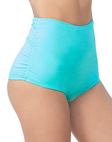 Mapale 6854 Classic High Waist Swimsuit Bottom Color Aqua Size L