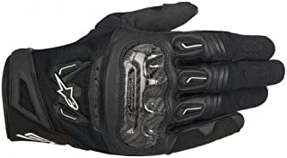 Alpinestars SMX-2 Air Carbon V2 Leather Street Gloves-Black-3XL