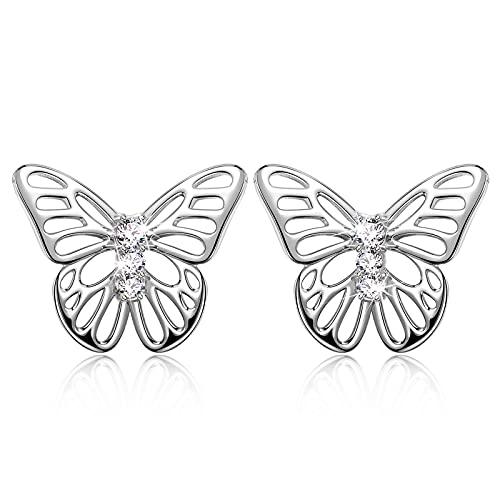 Sellot -La Mariposa- Pendientes Mujer Plata Regalos Originales Pendientes de Mariposa, Regalos Mujer...
