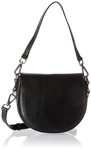 Steffen Schraut Damen Hudson Saddle Bag I Umhängetasche, Schwarz (Black), 8x16x22 cm