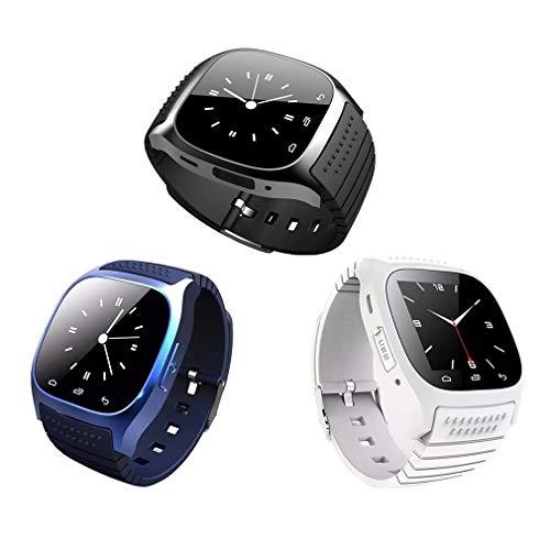 Leoboone M26 - Reloj inteligente inalámbrico para hombre y mujer, podómetro deportivo Wechat, ritmo cardíaco, monitor del sueño, color azul (M26 ), moderno