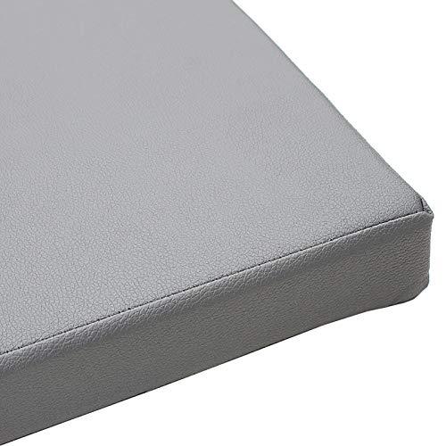 HIAQIMEI Personalizado Cuero Cojín De Asiento,Premium Impermeable Cojín De Banco Comodidad Patio Cojín De Silla para Garden Patio Home-Q 45x45x5cm(18x18x2inch)