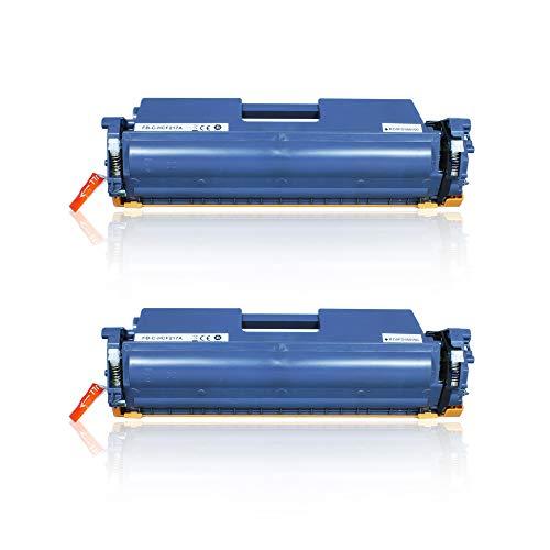 Tonerweb CF217A Cartucho de tóner de repuesto para HP 17A CF217A compatible con HP Laserjet Pro M102a M102w, HP Laserjet Pro MFP M130a M130fn M130fw M130nw (2 negros)