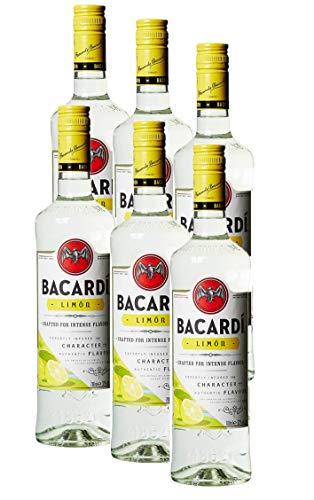 BACARDI Limón 6 Flaschen Spirituose mit Rum und Citrusgeschmack (6 x 0.7 l)