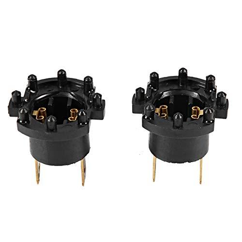 Soporte de bombilla de faro de coche, soporte de adaptador de enchufe de bombilla de faro de repuesto de ABS para BJ/DK/BK B28V510A3 (paquete de 2)