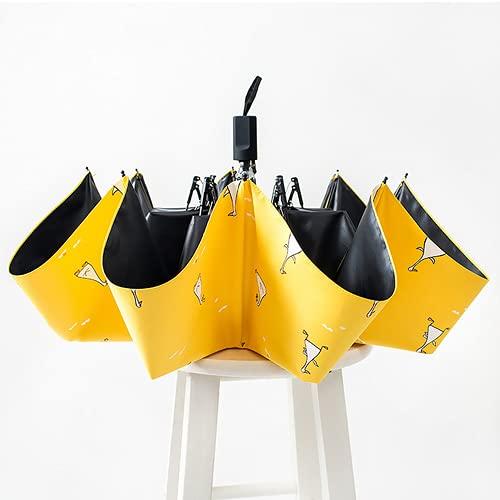 YONGLI Diseño Paraguas Automático Amarillo A Prueba De Viento Protector DE Protector para Las Mujeres Muchacha sobre sobre Y RAÍDICA PLOTING (Color : Manual)