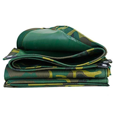 JHKGY Mehrzweck-Camouflage-Plane, verdicktes Camouflage-Oxford-Tuch, strapazierfähiges Gewebe, wasserdicht, für Plane, Vordach, Boot, Wohnmobil oder Pool Abdeckung und mehr, 4.5 × 6m