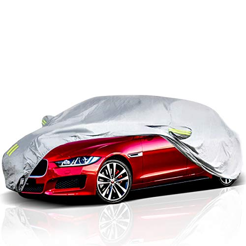 ELUTO Car Cover Outdoor Sedan Cover Waterproof Windproof All Weather Scratch Resistant...