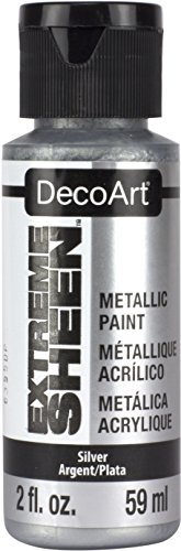 DecoArt 2 Ounce, Silver Extreme Sheen Paint, 2 oz