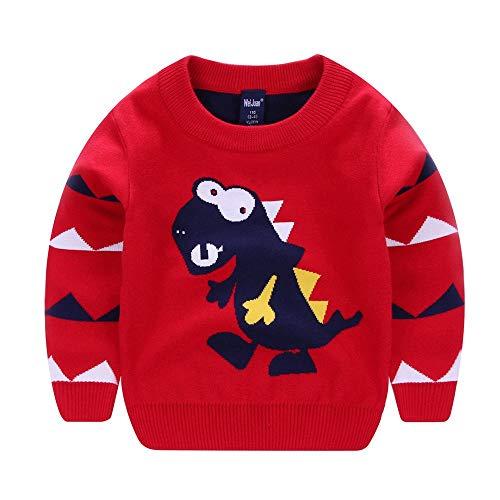 ZODOF Lindo suéter de Dinosaurio para niños Niños Niñas Bebé Niños Mangas Largas Dinosaurio Dibujos Animados Suéteres Abrigos Cálidos Suaves