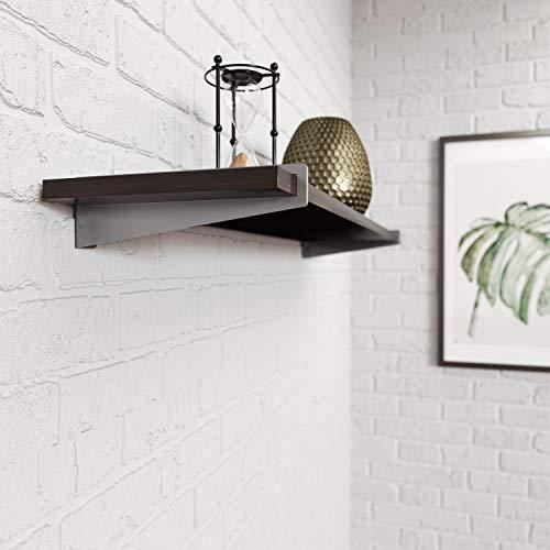 Pittsburgh Steel 8.57 in. L x 1.13 in. W x 2.5 in. H Satin Nickel 200 lbs. Decorative Shelf Brackets