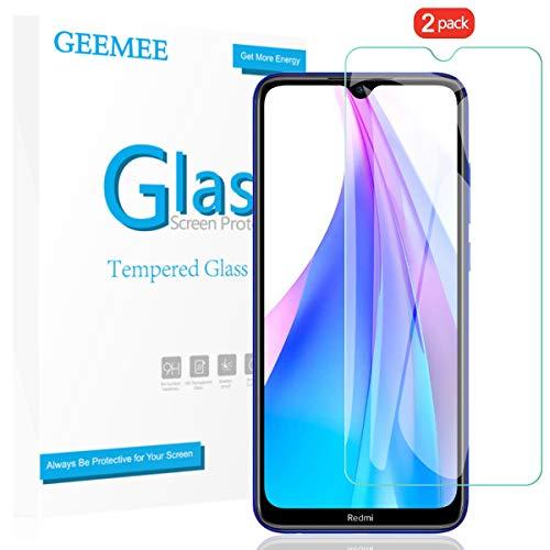 GEEMEE para Xiaomi Note 8T Protector de Pantalla, Cristal Templado Película Vidrio Templado 9H Alta Definicion Glass Screen Protector Film para Xiaomi Note 8T (Transparente) - 2 Pack