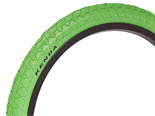 KHE Kenda BMX Freestyle - Pneumatico 20 pollici x 1,95 pollici, colore: verde, solo 610 g