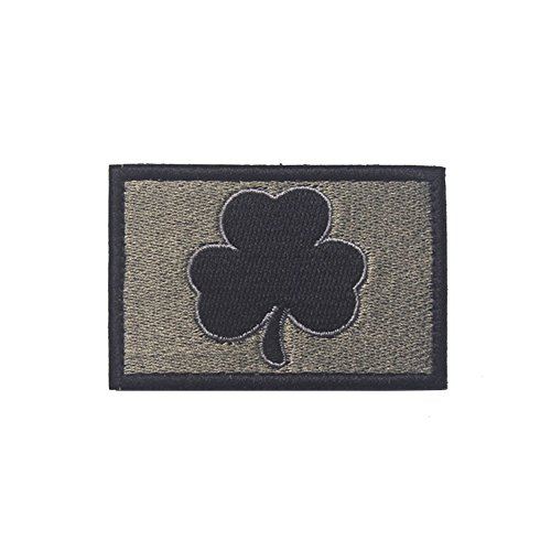 Parche bordado Aquiver Irlanda diseño trébol irlandés