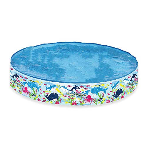 Rigid Wall Paddling Pool With No Inflation Required. Perfect For Indoor and Outdoor Garden Pool 150cm Wide and 25cm High.
