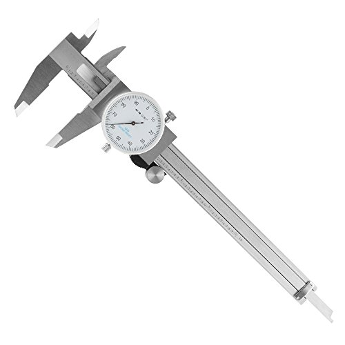 Dial Caliper- Stainless Steel and Shock Proof Tool With Plastic Carry Case, 0- 6 Inch Measuring Range For Accurate Measurements by Stalwart