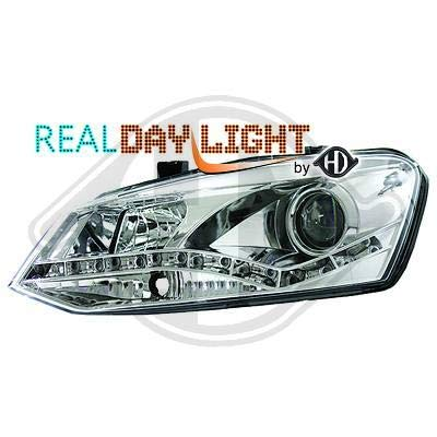 2206586 koplamp daylight DRL LED chroom voor Polo 6R van 2009 tot 2014