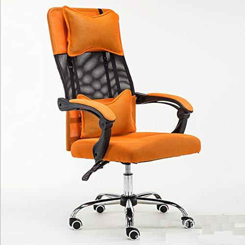 TXYJ Gaming Stuhl Bürostuhl Schreibtischstuhl mit Fußstützen Gamer Stuhl Drehstuhl Höhenverstellbarer Gaming Sessel PC Stuhl Ergonomisches Chefsessel mit Armlehne,Orange