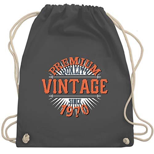 Shirtracer Geburtstag - 50. Geburtstag Vintage 1970 - Unisize - Dunkelgrau - jahrgangsbuch 1970 - WM110 - Turnbeutel und Stoffbeutel aus Baumwolle