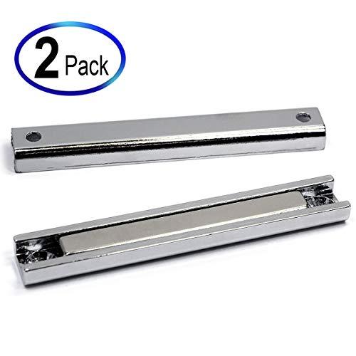 65 Pound Neodymium Channel Magnets 3 1/4 x 1/2 x 1/4' 2 Pieces