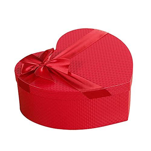 BAWAQAF Cajas de Regalo, Cajas de Regalo pequeñas con Sombrero de Florista, Cajas de Embalaje de Caja de Regalo en Forma de corazón Rojo, para la Caja de Regalos preservada de San Valentín