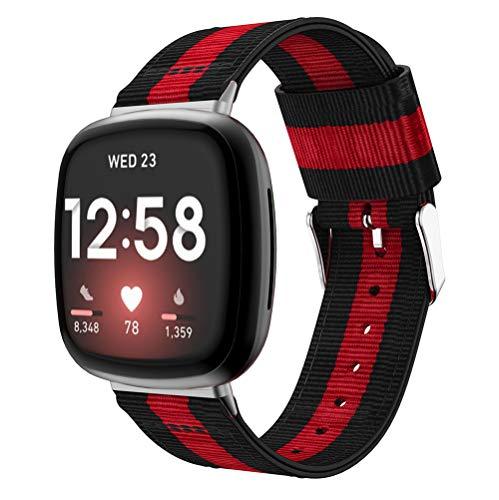 Classicase Reloj Bandas Compatible con Fitbit Versa 3 / Fitbit Sense – elección de Color, Longitud y Anchura – Correas de Nailon (Pattern 5)