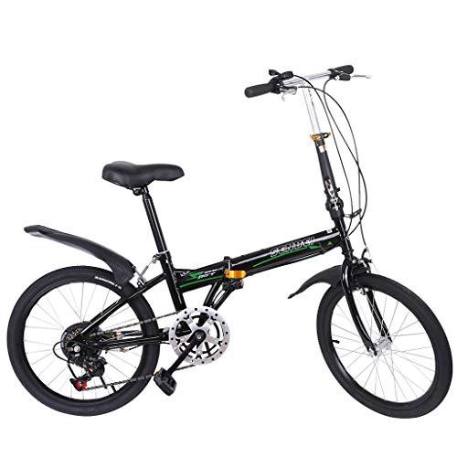 Glumes Folding Bike 20 Inch City Mini Compact Bike 7 Speed Fixed Freewheel Mens/Womens Hybrid Road Bike Aluminum Full Suspension Road Bike Urban Commuter - Ship from US