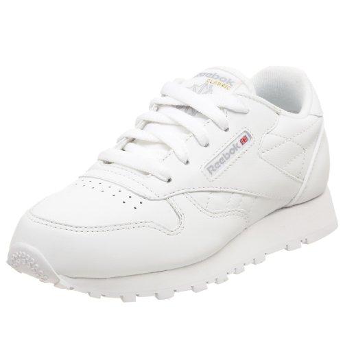 Reebok Little Kid Classic Leather Sneaker,White,1.5 M US Little Kid