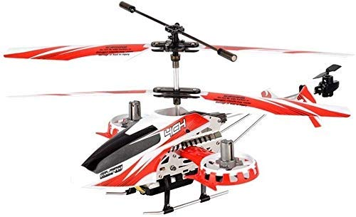 SHKUU RC Helicóptero Control Remoto Helicóptero Aviones Juguetes Aleación Resistencia a la caída Inalámbrico Niños Juguete Volador Drone eléctrico Luz de Gran tamaño Adulto Niño Niña Regalo Rojo