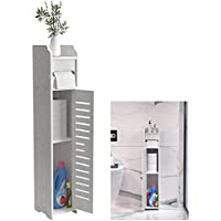 Doxo Small Bathroom Storage Cabinet with Doors and Shelves