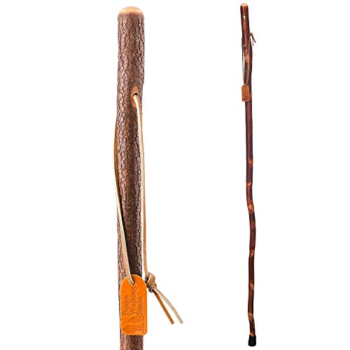 """Brazos 48"""" Free Form Dogwood Walking Stick Hiking Trekking Pole for Men and Women, Made in the USA"""