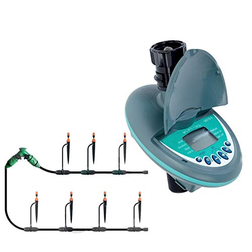 Riego de jardín Jardín de Plantas de riego de riego por goteo kit con controlador de temporizador de riego temporizador de riego automático (Color : Green)